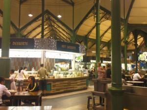 Lau Pa Sat food court  inside