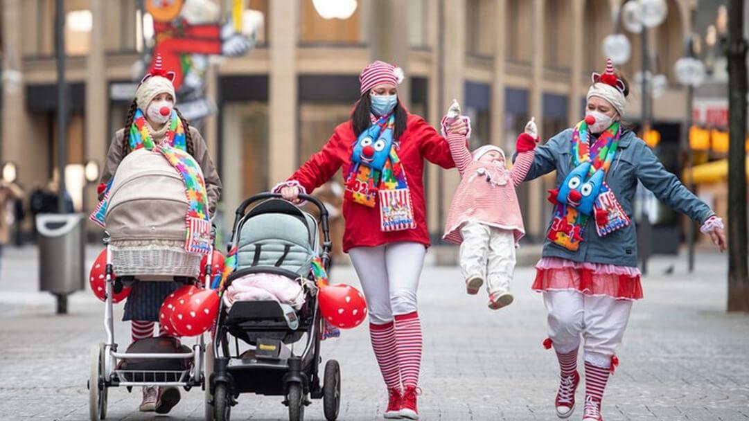 Карнавал-2021: защитная маска вместо клоунского носа