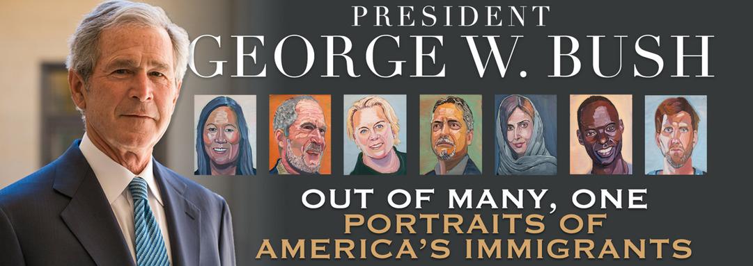 «Из многих, один: портреты иммигрантов Америки» - необычный вклад Дж. Буша в дискуссию об иммирации